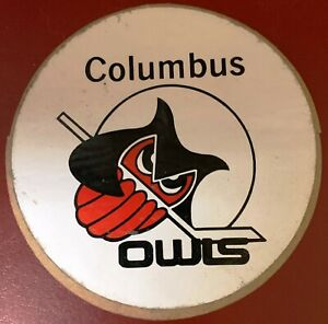1970s Columbus Owls Vintage IHL Minor League Hockey Sticker Team Issued