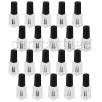 20PCS 4ml Transparent Empty Nail Polish Glass Bottle Sample Container with Brush