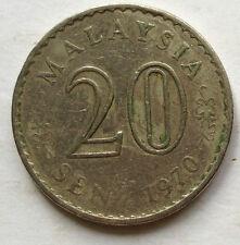 Malaysia 20 sen 1970 coin (B)