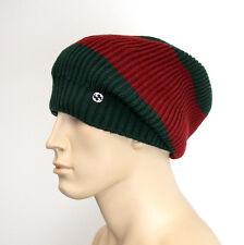 NEW Gucci Wool Beanie Hat w/Interclocking G w/Tag Green/Red 310777 3174