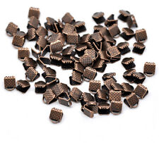 25 x Copper Tone Ribbon End Clasps 8mm x 6mm Findings FREE UK P+P F126