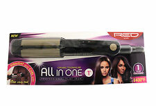 RED BY KISS CERAMIC TOURMALINE ALL-IN-ONE FLAT IRON CURLER STRAIGHTENER 1""