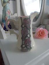ART DECO VINTAGE RENNIE MACKINTOSH ROSE FLOWERFLORAL ART DECO VASE JUG PORCELAIN