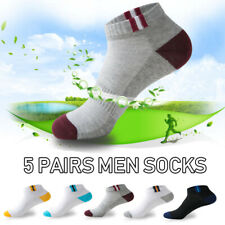5 Pairs Men Ankle Socks Summer Low Cut Crew Casual Sport Cotton Blend Soft NEW