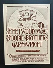 Fleetwood Mac And The Doobie Brothers Original 1977 Concert Poster Signed