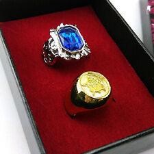 2pcs/lot Blue + Golden Ring Cosplay Black Butler Kuroshitsuji Ciel Phantomhive