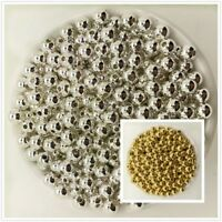 NEW 3/4/5/6/8/10MM Gold Silver Acrylic Round Pearl Spacer Loose Beads Jewelry