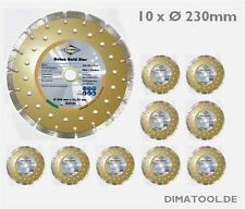 10x 230mm Cedima Beton Gold Star Diamanttrennscheibe Beton Naturstein