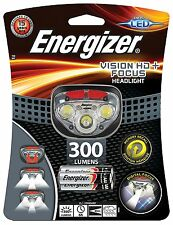 Energizer Vision HD+ Focus LED Headlight Hands Free Headtorch 300 Lumens NEW!