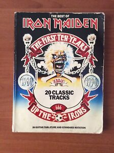 IRON MAIDEN The First Ten Years Guitar Tab - Tablature Songbook 1991