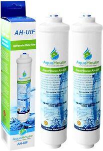 2x AquaHouse AH-UIF Compatible Filtre à eau universel pour réfrigérateur Samsung
