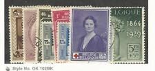 Belgium, Postage Stamp, #B233-B240 Used, 1939