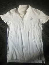 Abercrombie and Fitch Mens White polo T-shirt muscle fit size L