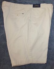 Polo Ralph Lauren Mens Stone Light Cotton Flat-Front Shorts NWT $75 Waist 42