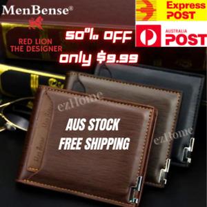 💯 Slim Men Wallet Premium Leather Credit Cards Coin