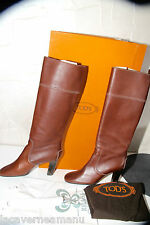 luxurious leather boots bicolour brown TOD'S size 37 almost new VALUE