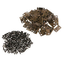 50x Small Hinges Jewelry Box Tiny Trinket Miniature Furniture Cabinet Hinges