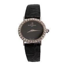 Baume & Mercier 18K White Gold Diamond Encrusted Bezel Ladies' Watch w/ Pouch