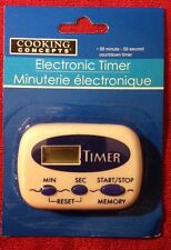 Cooking Concepts Electronic Kitchen Timer 99 Minutes Brand New Fast USA Ship