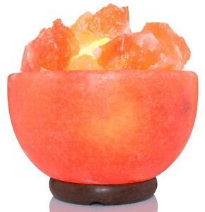 IKON NL-02 Himalayan Salt Lamp Bowl Shape with Salt Chips 6 feet UL-Approved