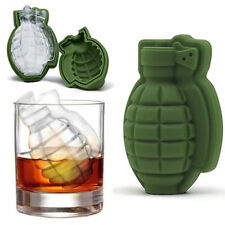 Grenade Shape 3D Ice Cube Mold Maker Bar Party Green Silicone Trays Mold Tools