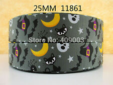 "Halloween/Bat Ribbon 1"" Wide 1m is only £0.99 NEW UK SELLER"
