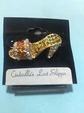 "Jeweled High Heel Shoe brooch/pin ""Cinderella's Lost Slipper"" - Ladies"