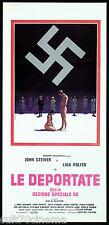 LE DEPORTATE DELLA SEZIONE SPECIALE SS LOCANDINA CINEMA NAZI EXPLOITATION 1976