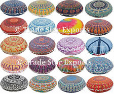 10 Pc Indian Mandala Floor Pillow Wholesale Lot Round Ethnic Cushion Cover 32""