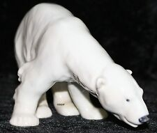 "ROYAL COPENHAGEN FIGUR #321  ""POLAR BEAR FEEDING"" TOP 1. WAHL  Bing Grondahl"