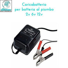 CARICABATTERIA BATTERIA AL PIOMBO 2v 6v 12v CON LED INDICATORE di CARICA