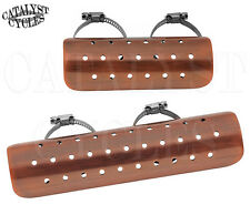 "Brushed Copper Heat Shields for Harley Heat Shields 9"" & 6"" Exhaust Heat Shields"
