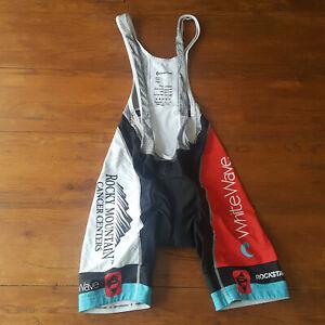 Panache Mens Large Cycling Bibshorts Compression Shorts Bib L Black White Blue