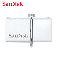 SanDisk 32GB OTG Ultra Dual micro USB USB 3.0 Flash Pen thumb Drive SDDD2 White