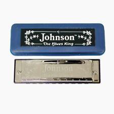 """Johnson """"The Blues King"""" Harmonica, Key of D, Blues Harp"""
