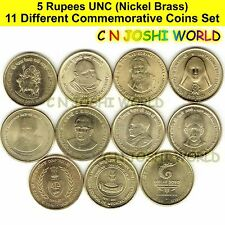 Very Rare 51 Different Copper Nickel 1 + 2 + 5 Rupees Commemorative Coins Sets