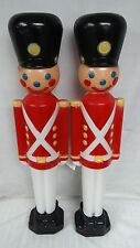 """2 NEW 31"""" Soldiers Black Hat Lighted Blow Molds Outdoor Christmas Yard Decor"""