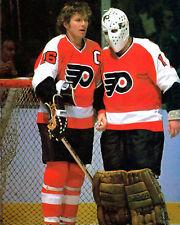 BERNIE PARENT & BOBBY CLARKE 8X10 PHOTO HOCKEY PHILADELPHIA FLYERS NHL
