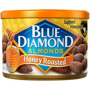 NEW BLUE DIAMOND ALMONDS HONEY ROASTED 6 OZ (170g) CAN SUPPORT HONEYBEES! BUY IT