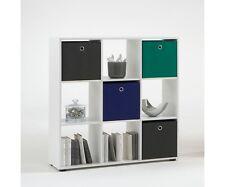 Raumteiler Bücherregal Regal Büroregal Stufenraumteiler Weiss Mega 5