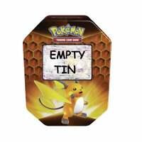EMPTY Pokemon Card Storage Tin | Raichu GX | Empty Hidden Fates 2019 Collection