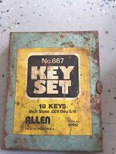 ALLEN WRENCH SET 18PCS Short Arm Hex Key #84667 NO#667 Antique
