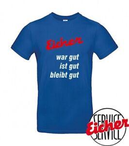 """T-Shirt royalblau """"Die Nr.1 Eicher-Traktoren"""""""