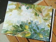 Original Aquarell Blumen Kunst Aquarellmalerei Bild Malerei Gemälde Handgemalt