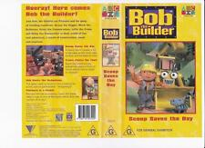 BOB THE BUILDER: SCOOP SAVES THE DAY   *RARE VHS TAPES*. 1999