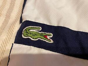 Lacoste Sports Mens Size 5 Large L White navy Shorts