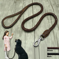 Dog Lead Braided Handcraft Genuine Leather Rope Dog Lead for Large Dogs 3ft