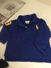 Boys POLO RALPH LAUREN long sleeve shirt 18m months blue