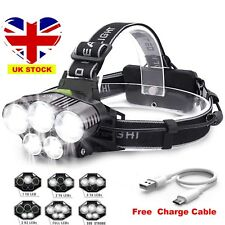 90000LM 5X T6 LED Headlamp Rechargeable Headlight Light Flashlight Head Torch UK