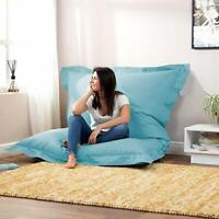 Bean bag Large Washable Furniture Bean Bag cover Blue for luxuries room gift